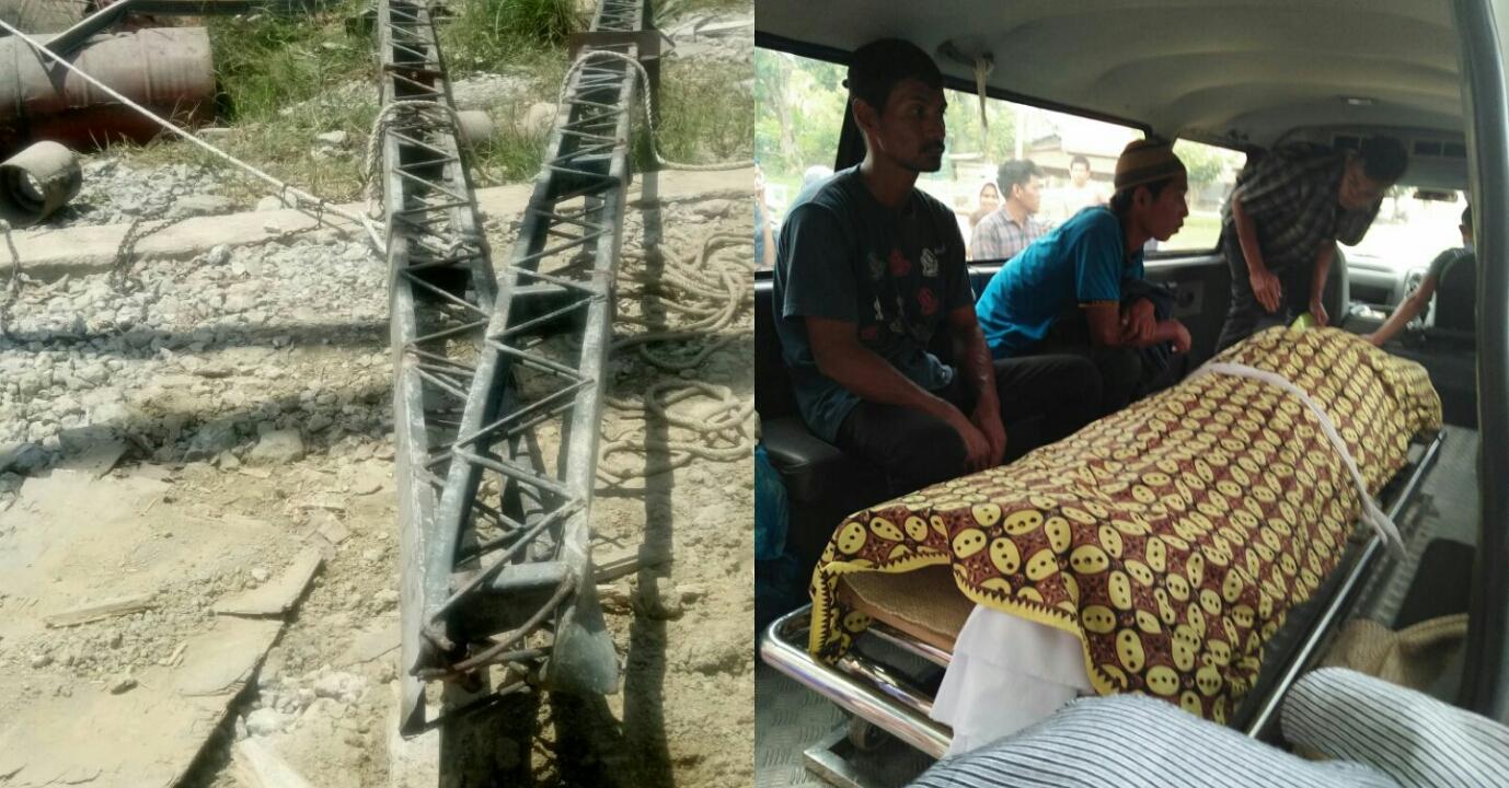 Pekerja Asal Sumut Tewas Tertimpa Besi Kontruksi Kilang Padi