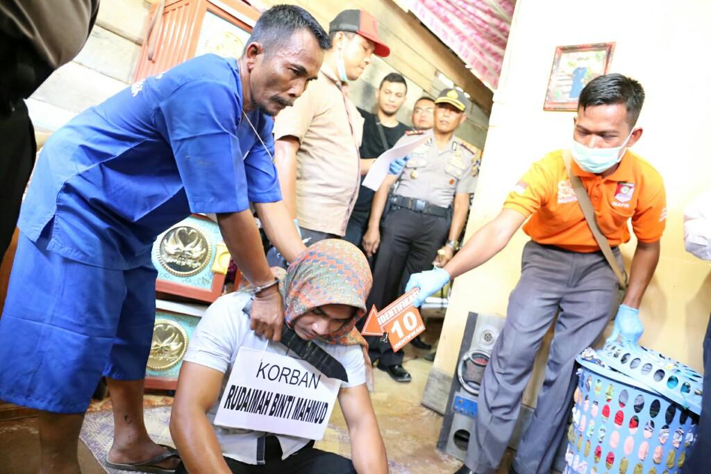 Polres Aceh Utara Gelar Pra Rekontruksi Pembunuhan Rudaimah