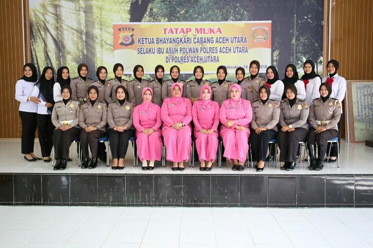 Tatap Muka Dengan Ibu Asuh, Polwan Polres Aceh Utara diharapkan Terus Lakukan Hal ini