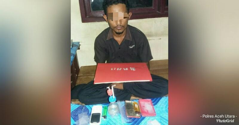 Anggota Polsek Tangkap Pengedar Narkoba di Langkahan, 8 Paket Sabu Diamankan