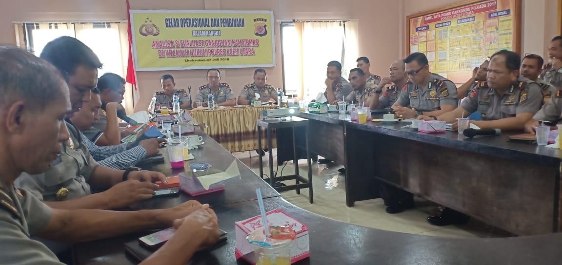 Tingkatkan Pelayanan, Polres Aceh Utara Laksanakan Gelar Operasional dan Pembinaan