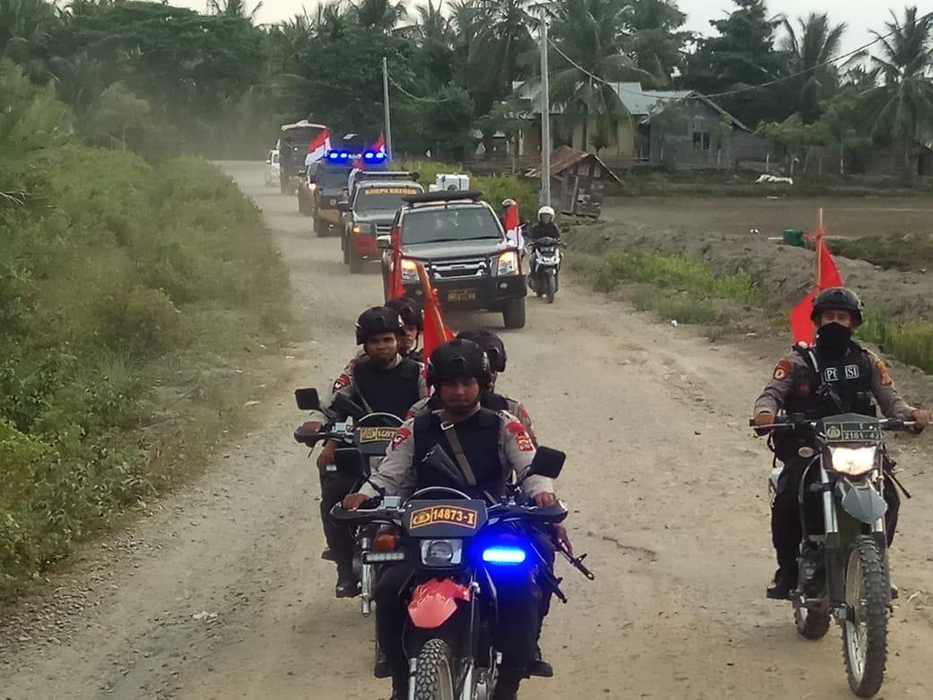 Polres Aceh Utara Gelar Patroli Skala Besar