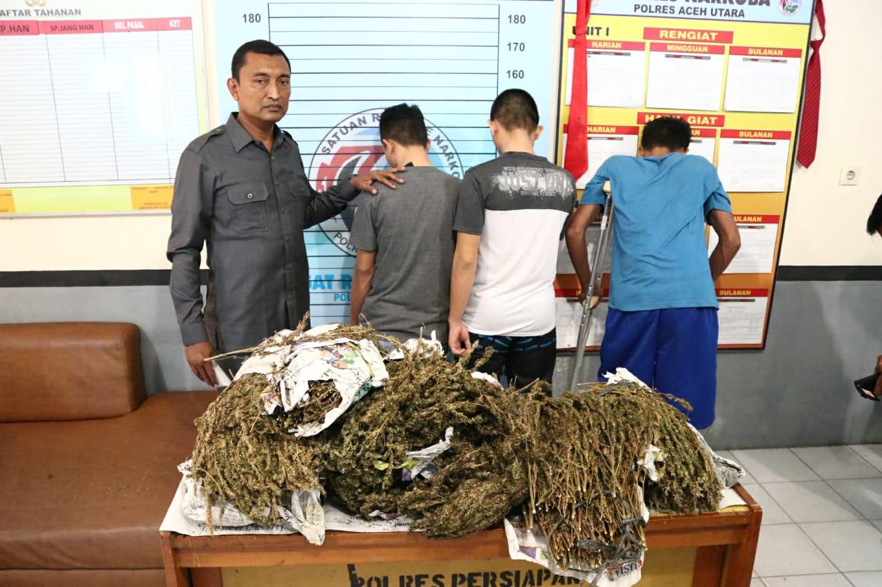 Kasus Narkoba di Wilkum Polres Aceh Utara Meningkat