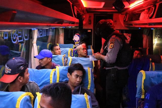 Persempit Ruang Gerak Napi yang Kabur, Polres Aceh Utara Gelar Razia