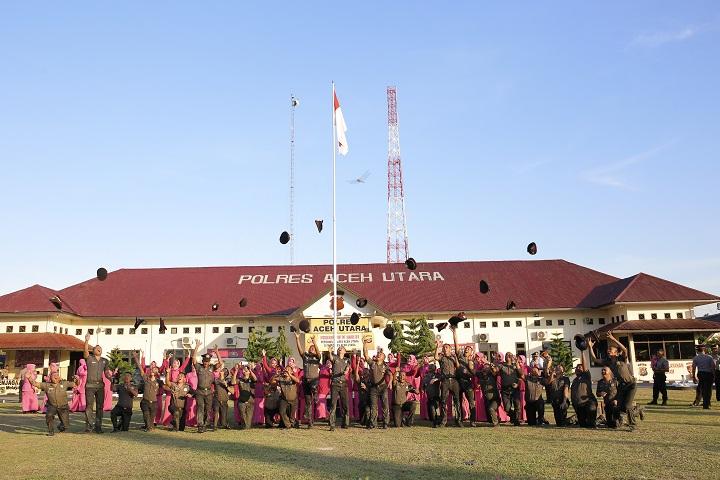 27 Anggota Polres Aceh Utara Naik Pangkat