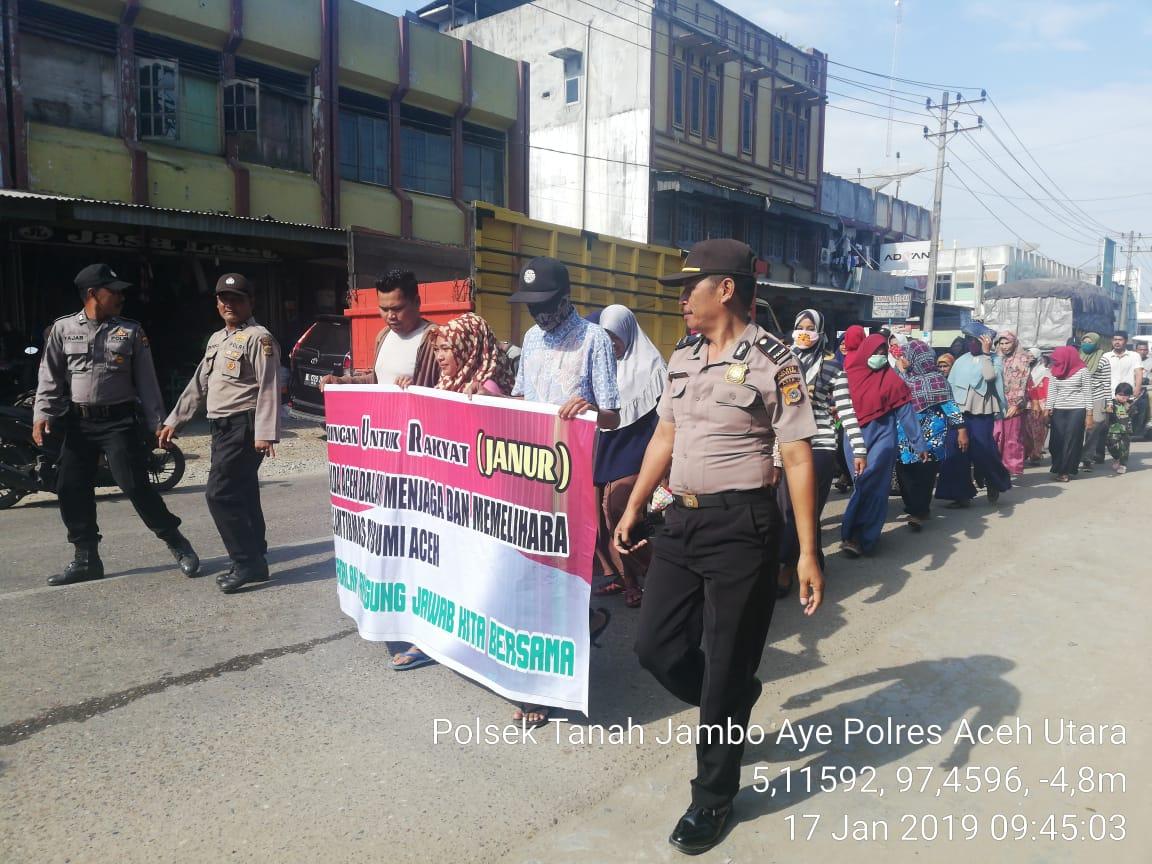 Yayasan JANUR Gelar Aksi Dukungan Terhadap Polri di 4 Kecamatan Aceh Utara