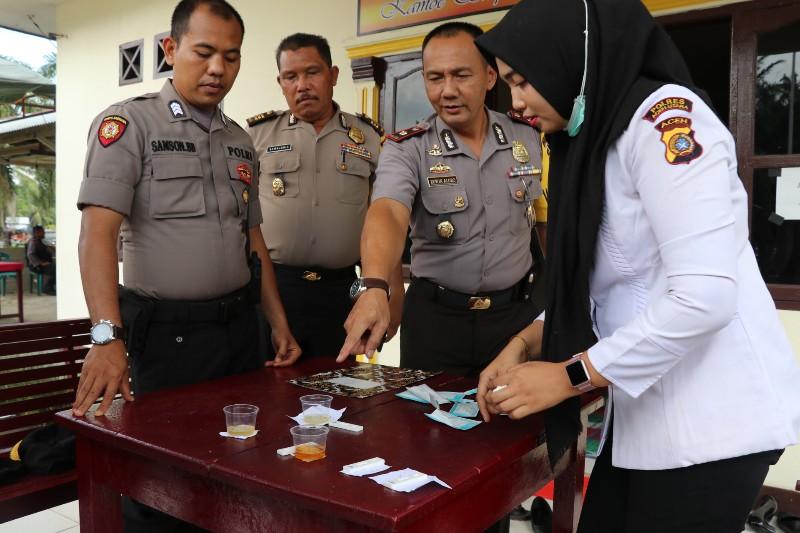 Kapolres Lakukan Kunker ke Polsek Cot Girek, Seluruh Anggota diperintakan Tes Urine