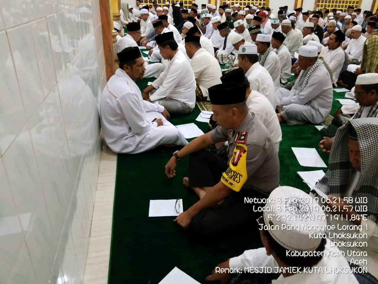 Safari Subuh Polres Aceh Utara Berlanjut Lagi ke Masjid Tua Kota Lhoksukon