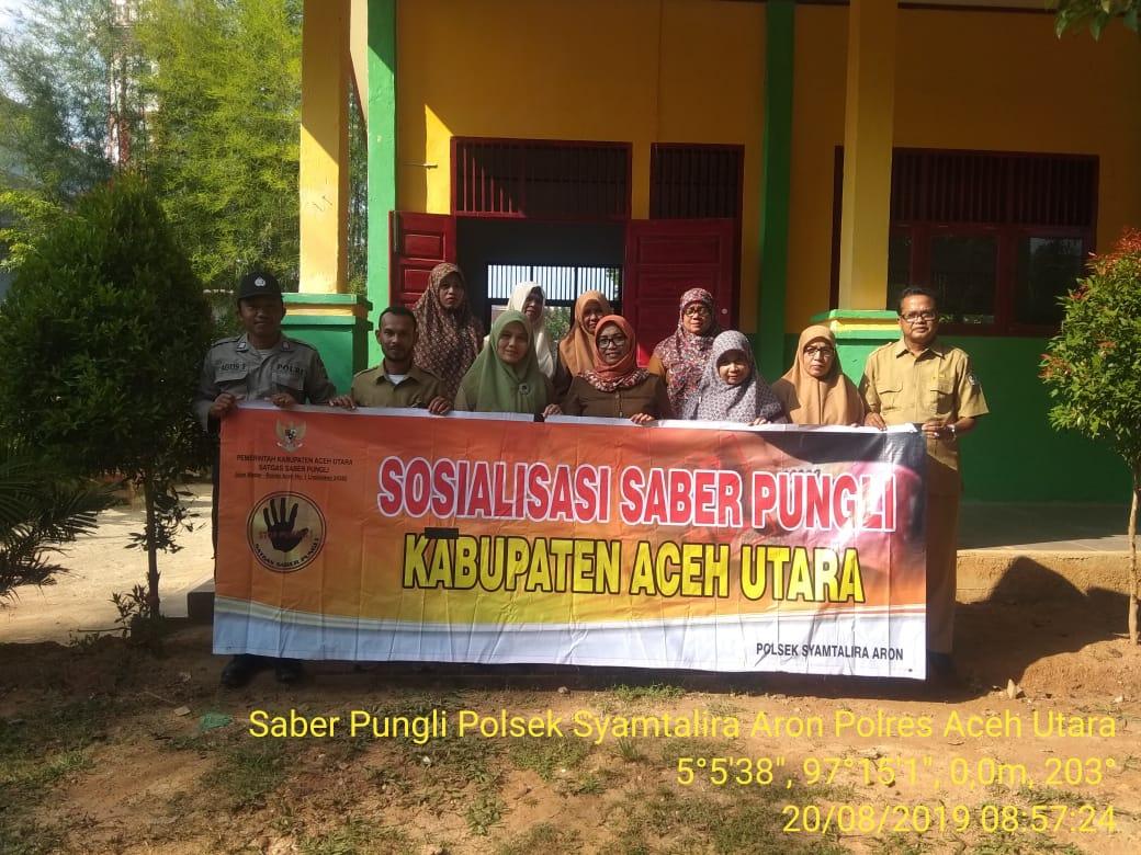 Tanggulangi Pungli, Polsek Syamtalira Aron Sosialisasi Saber Pungli di Sekolah