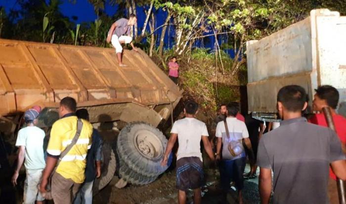 Tragis, Warga Bireuen Meninggal Terjepit Truck
