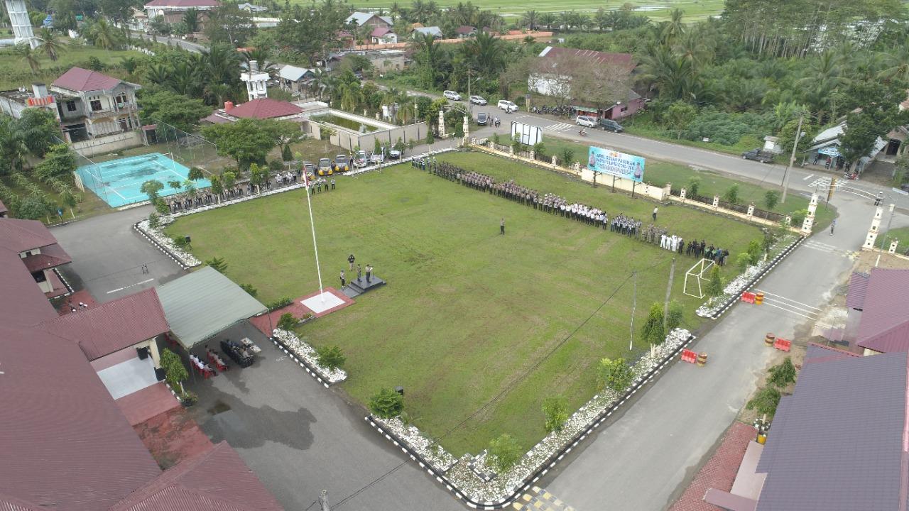 Awali Operasi Lilin Rencong 2019, Polres Aceh Utara Lakukan Apel Gelar Pasukan