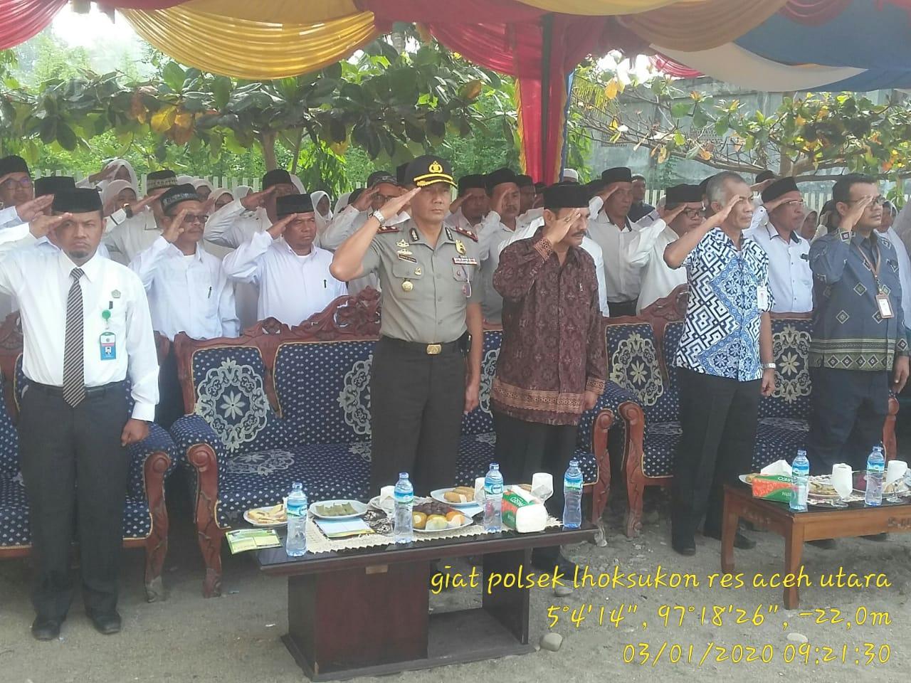 Wakapolres Hadiri Peringatan Hari Amal Bakti ke-74 di Aceh Utara