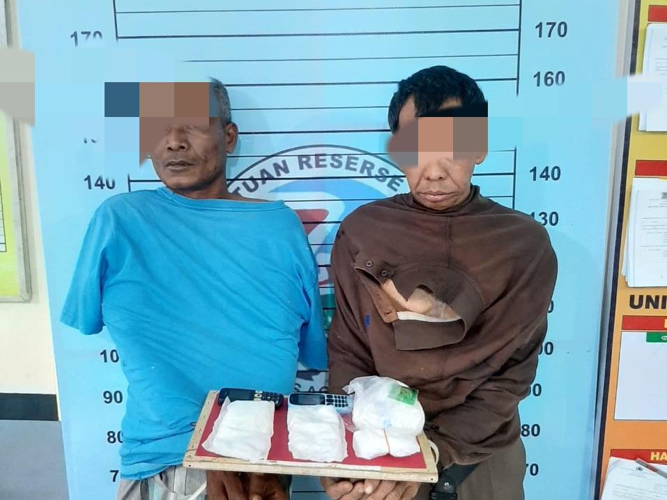 Polres Aceh Utara Ringkus Dua Bandar Narkoba, Empat Ons Sabu Disita