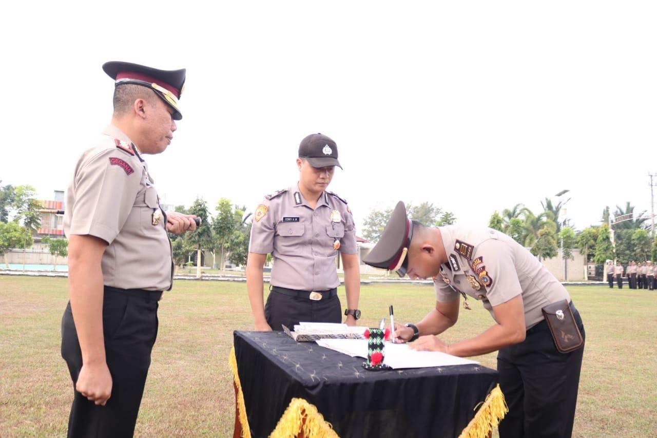 Pejabat Polres Aceh Utara Teken Pakta Integritas, Bersedia disanksi Jika Terlibat Narkoba