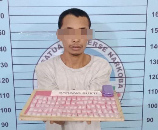 Pemuda 23 Tahun Pemilik 90 Paket Sabu Diboyong ke Polres Aceh Utara