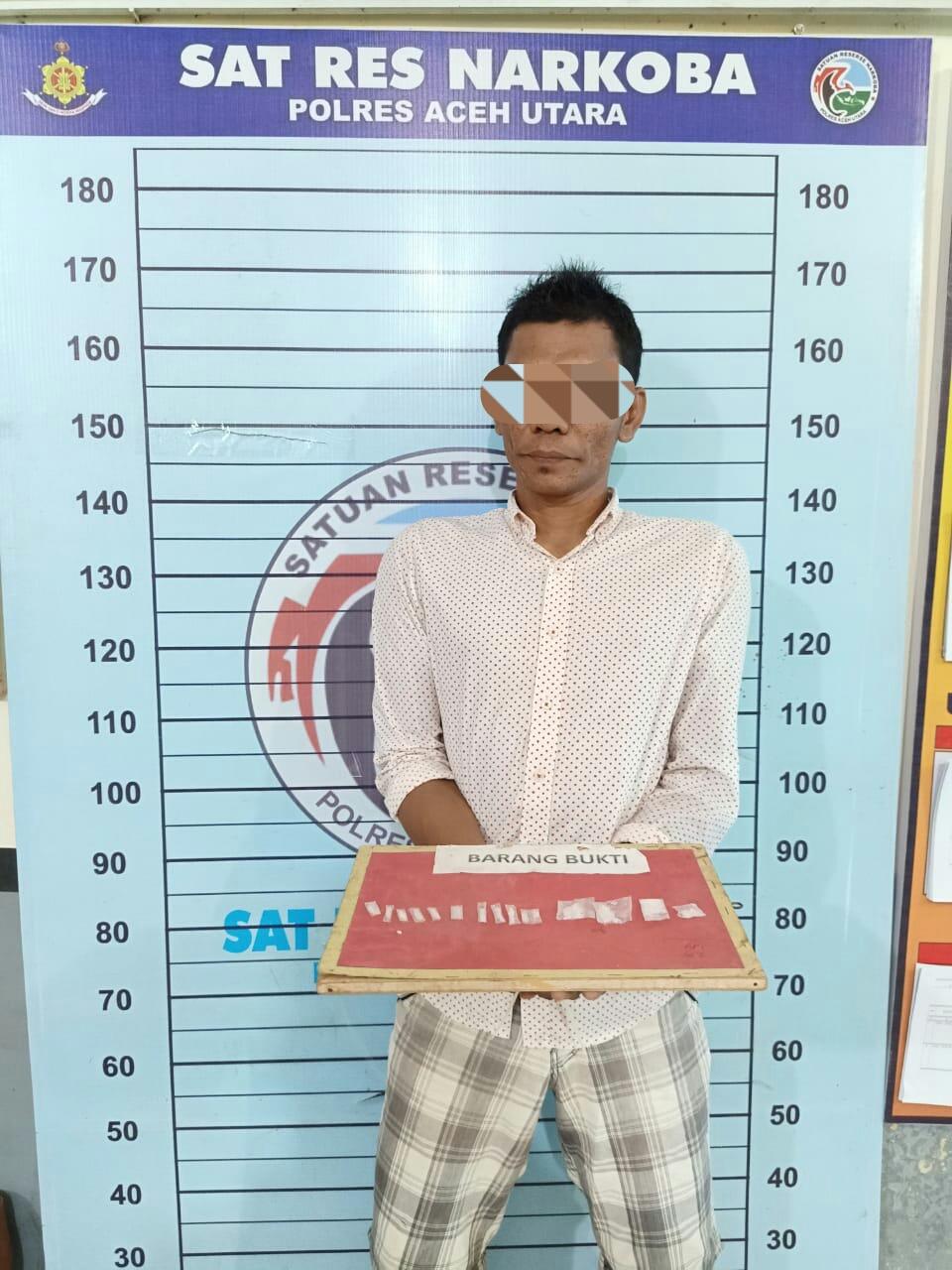 Kerap Resahkan Warga dan Pengaruhi Pemuda Akan Narkoba, Pengedar Sabu di Aceh Utara Ditangkap