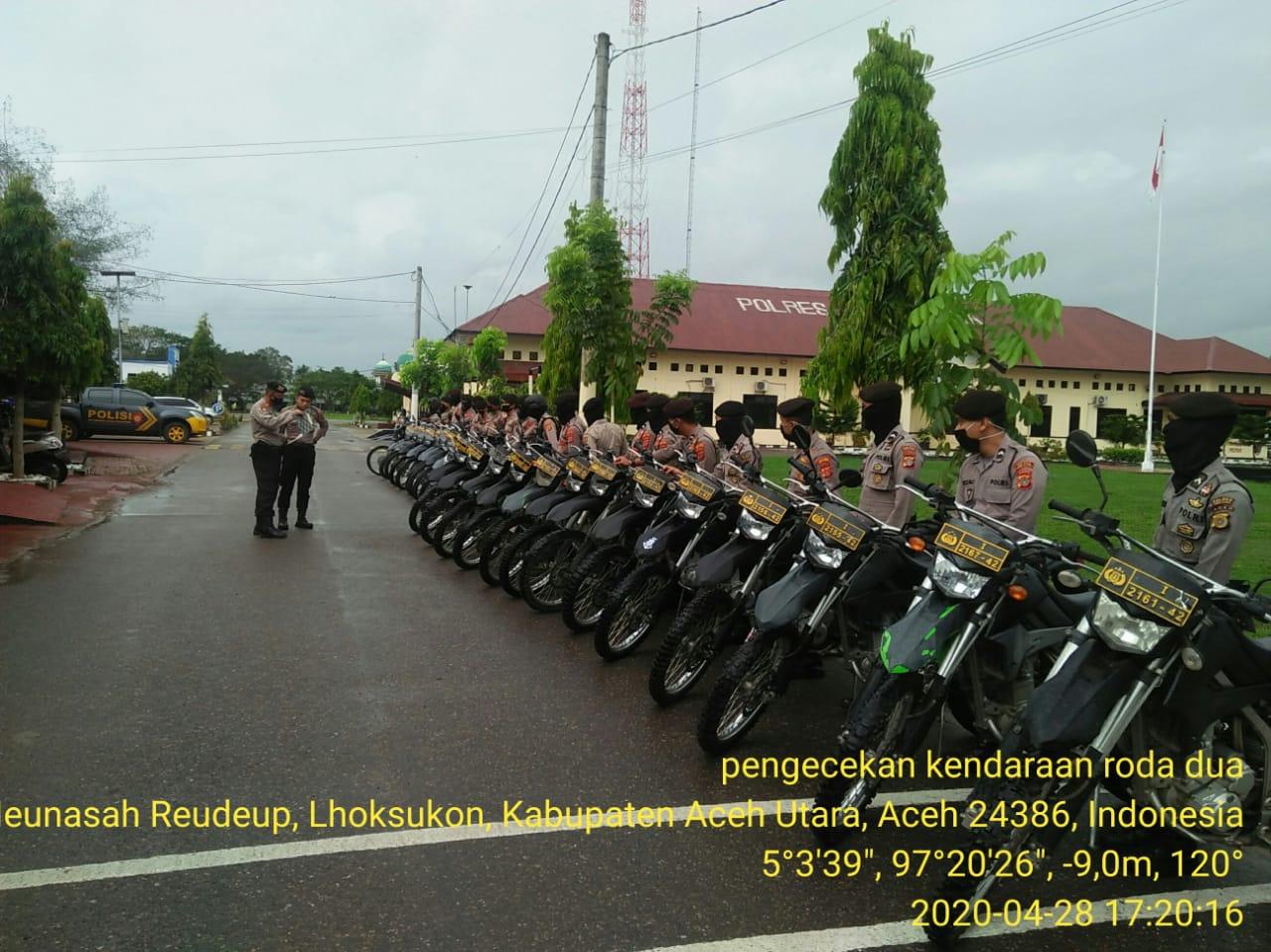 Bulan Puasa, Sat Sabhara Polres Aceh Utara Apelkan Ranmor Dinas Anggota