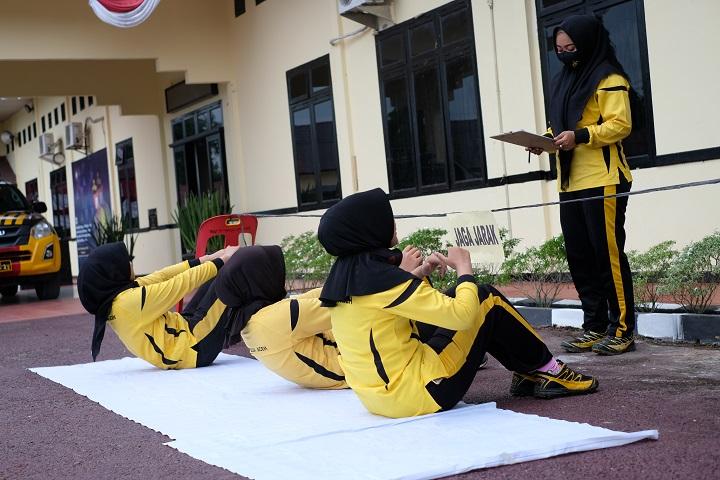 Polres Aceh Utara Lanjutkan Tes Kesamaptaan Jasmani Personel