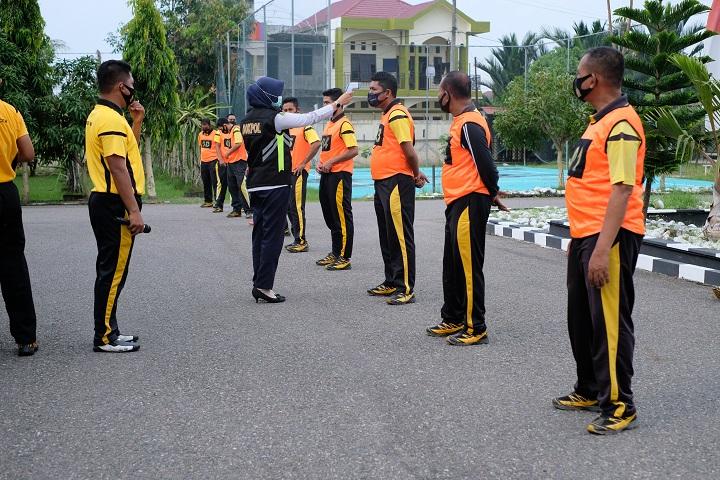 Uji Kondisi Fisik, Polres Aceh Utara Laksanakan Tes Kesampataan Jasmani Berkala