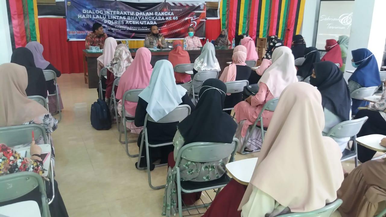 Sat Lantas Gelar Dialog Interaktif Dengan Mahasiswa STIKes Gatsempena