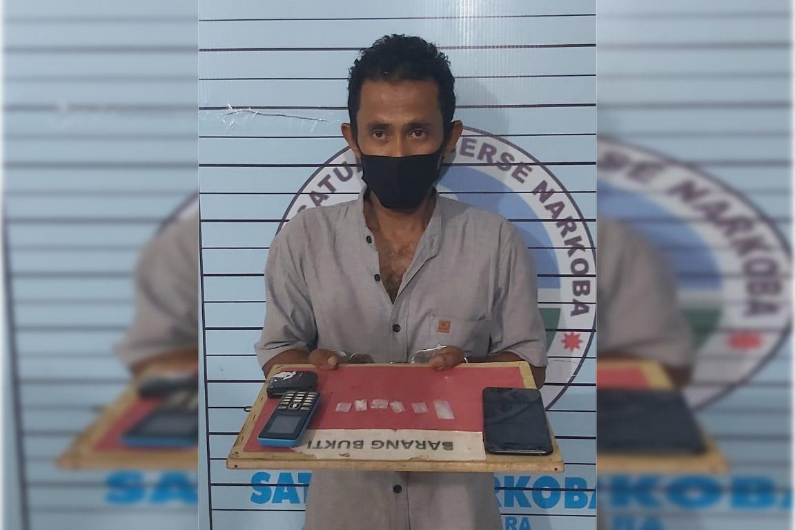 Pengedar Sabu Diringkus Polisi di Persawahan Kecamatan Seunuddon