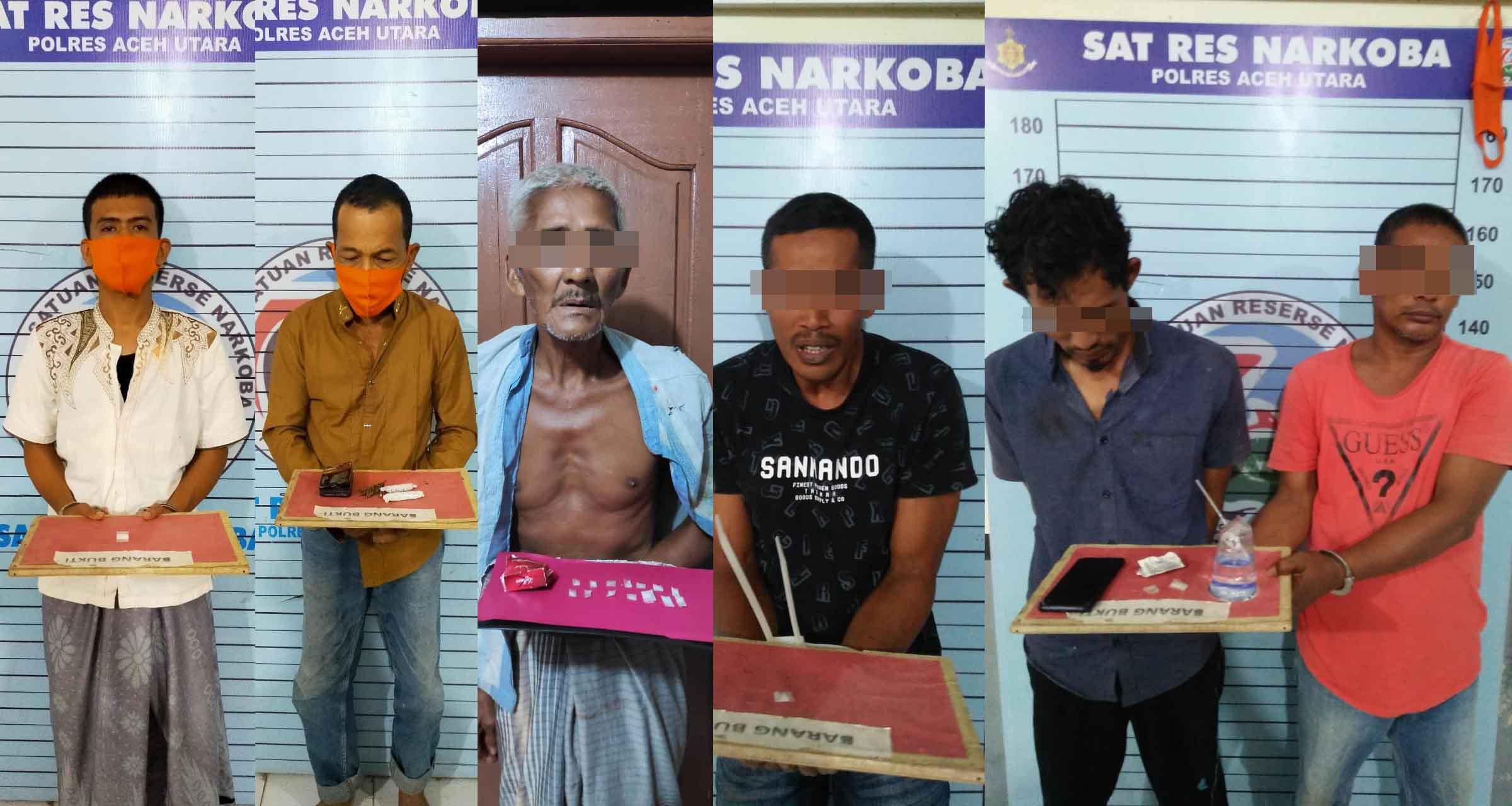 Dua Pekan Ramadhan, Polres Aceh Utara Ungkap 6 Kasus Narkoba
