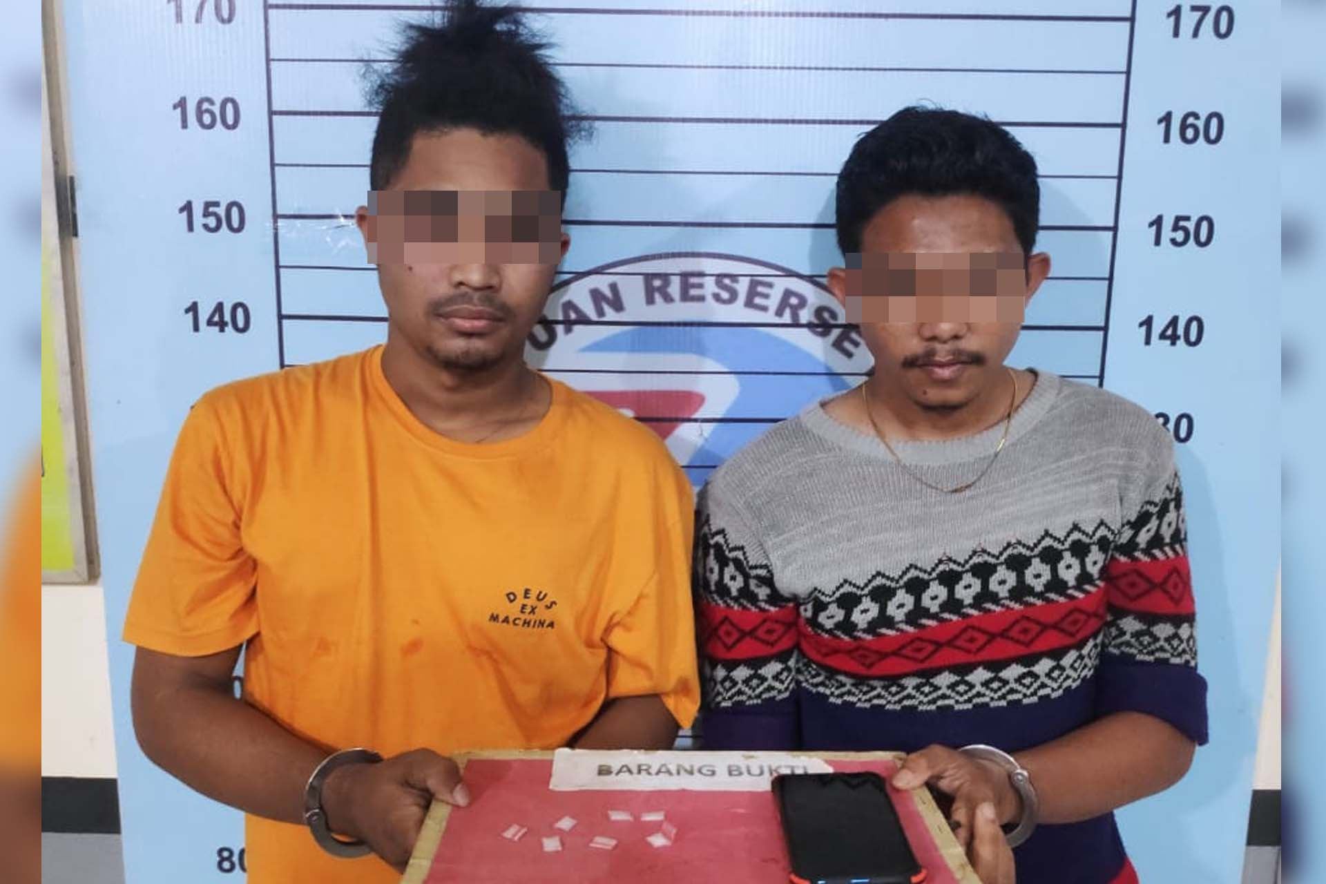Perkara 7 Paket Sabu, Dua Sekawan ini diboyong ke Polres Aceh Utara