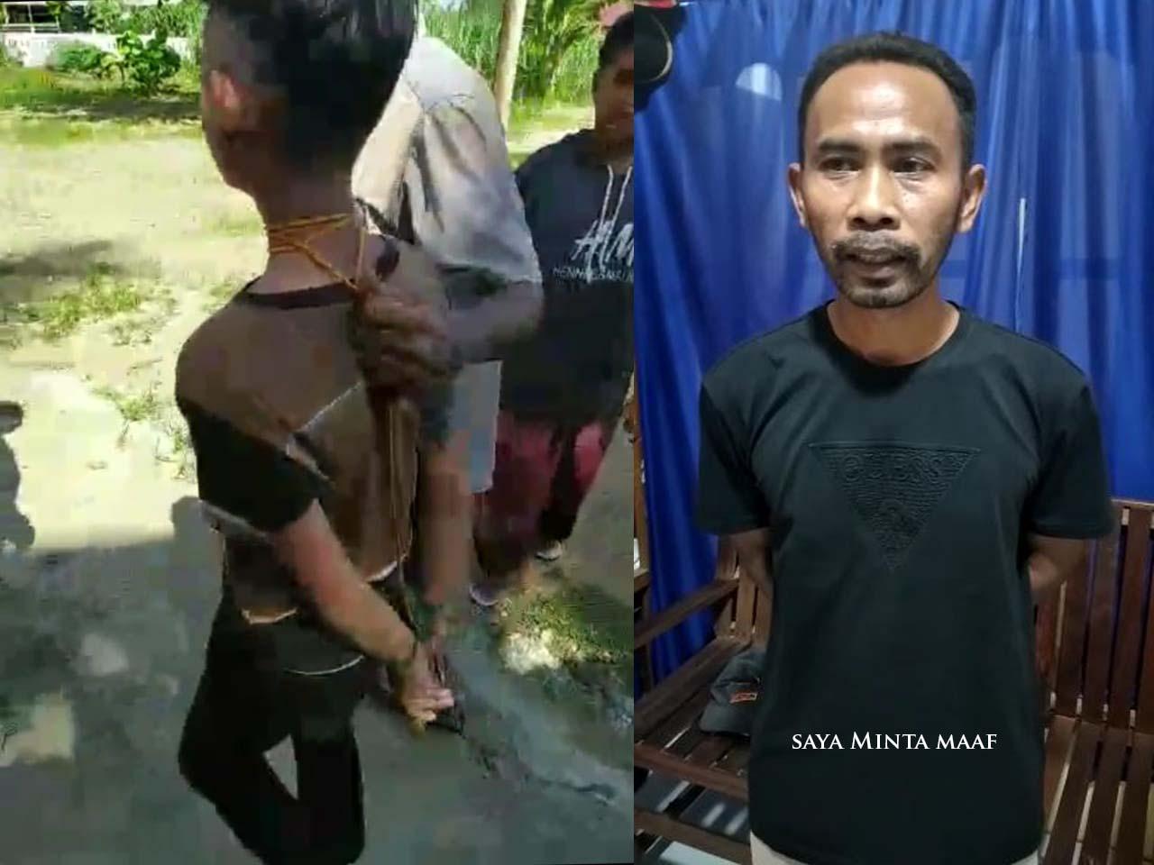 Pria Yang Ikatkan Tali ke Leher Anak Klarifikasi dan Minta Maaf