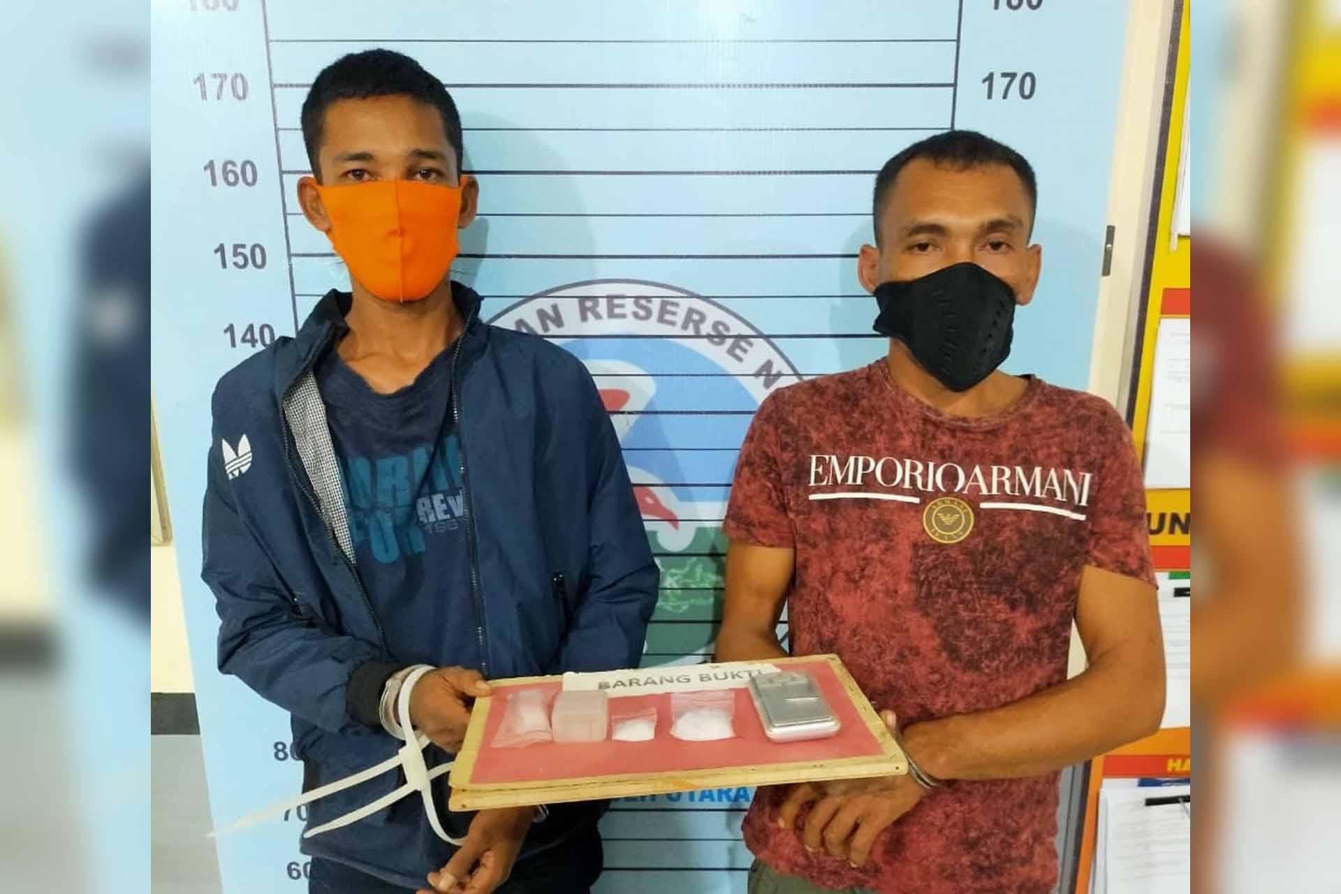 Pengembangan Kasus Sabu Janda, Dua Pria diangkut ke Polres Aceh Utara