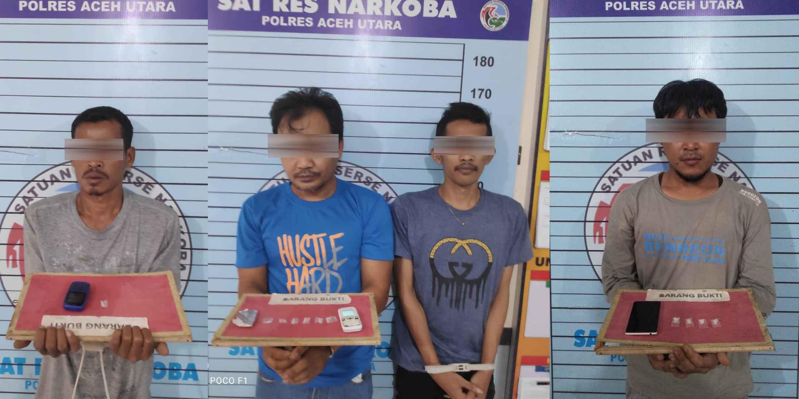 Pekan Ini Polres Aceh Utara Amankan 4 Pelaku Kasus Narkoba