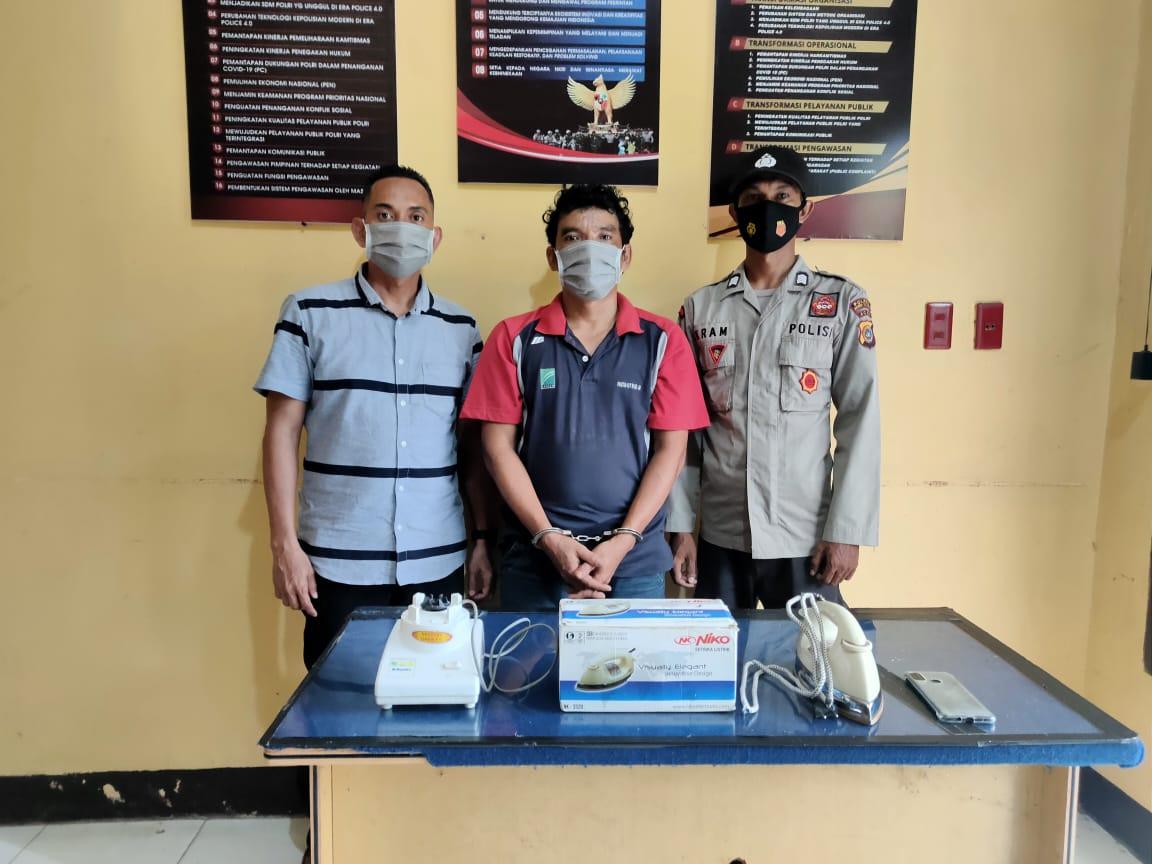 Ungkap Kasus Pencurian, Polisi Amankan si Bram, Setrika dan Blender