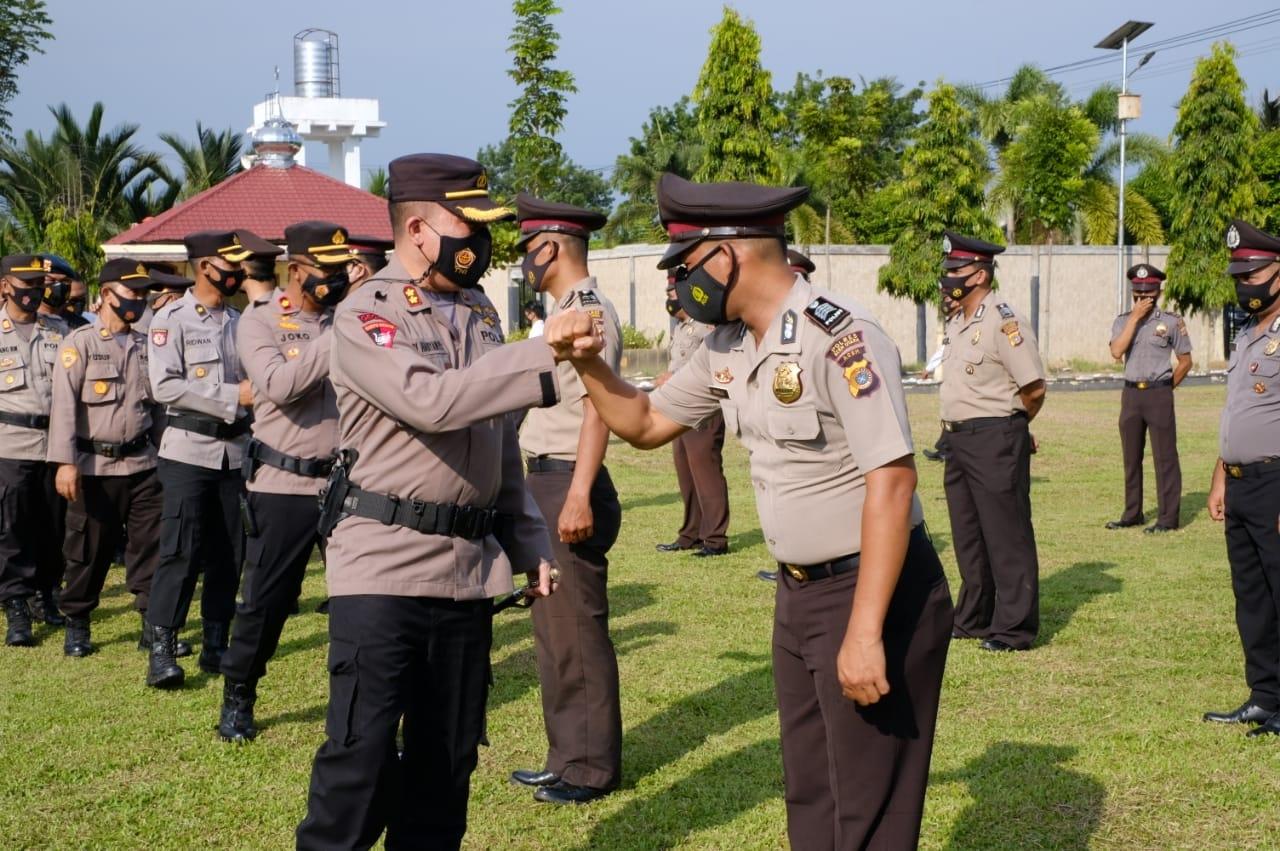 34 Anggota Gabungan Naik Pangkat di Polres Aceh Utara