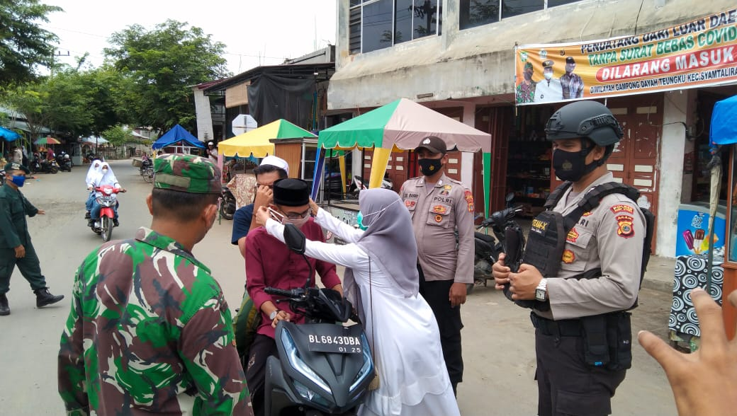 Petugas Gabungan Gelar Operasi Yustisi di Simpang Mulieng