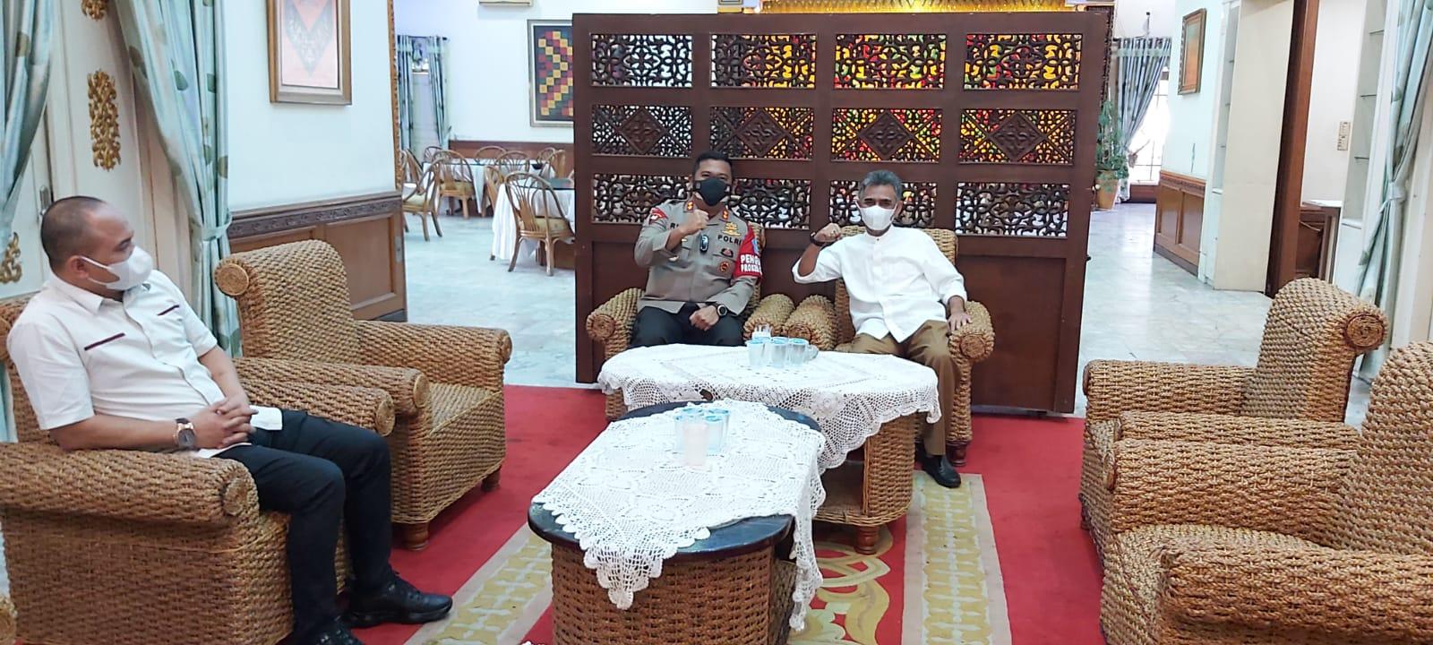 Rajut Tali Silaturahmi, Kapolres Aceh Utara AKBP Riza Faisal berkunjung ke pendopo Aceh Utara