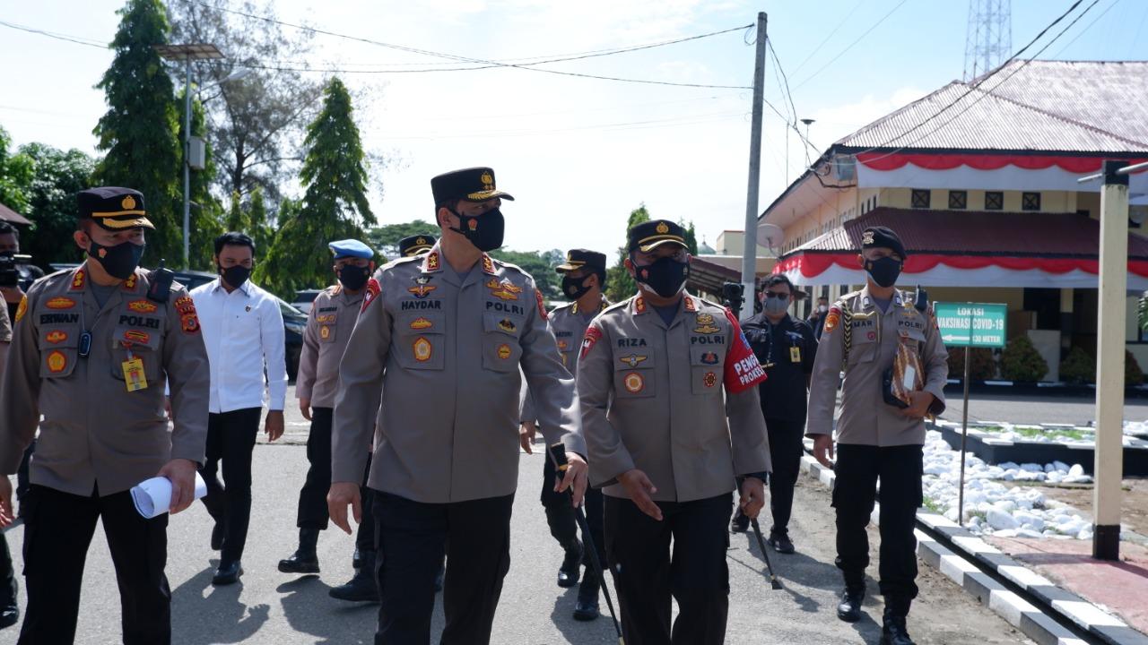 Kunker kapolda Aceh ke Polres Aceh utara