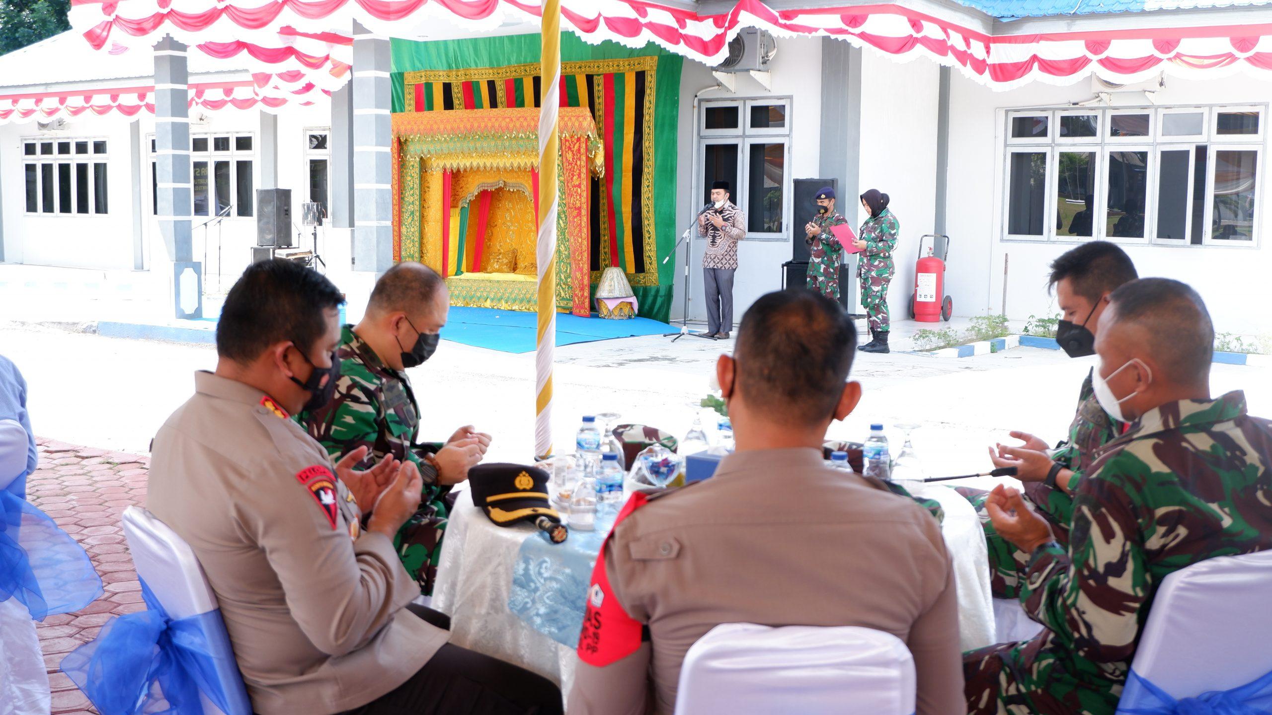 Foto: Kapolres Aceh Utara Hadiri Acara syukuran Kenaikan Pangkat Danlanal Lhokseumawe