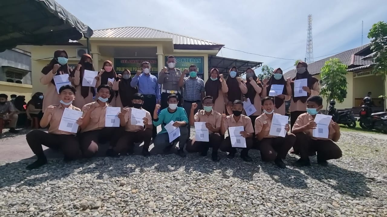 Gencarkan Vaksinasi, Sat lantas polres Aceh Utara lakukan strategi Jemput bola